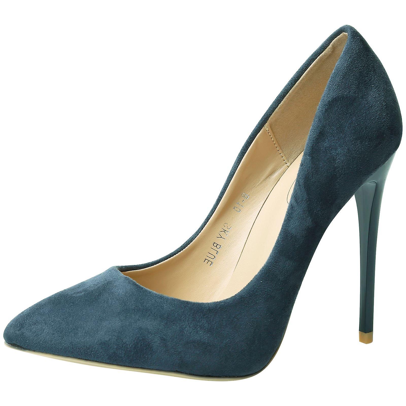 Danita Womens High Stiletto Heel Pointed Toe Court Shoes