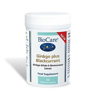 Biocare Ginkgo plus Blackcurrant, 60 vegetable capsules
