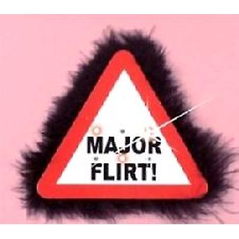 Blinkende Warnung Zeichen großen Brosche Major Flirt (Satz 1)
