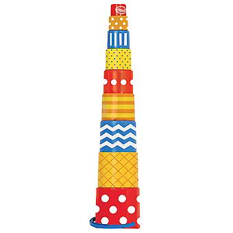 Gowi Toys 9 Part Retro Pyramid Stacker Stacking Toy