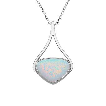 Argent sterling écossais Sahara Sunset Hand Crafted Collier pendentif - pierre opale blanche - DS289