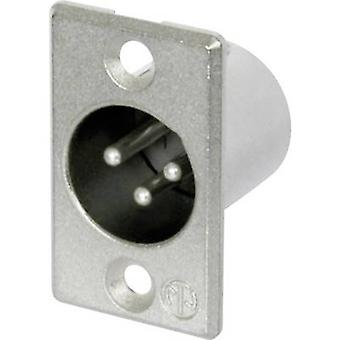 Neutrik NC3MP XLR connector Sleeve plug, straight pins Number of pins: 3 Silver 1 pc(s)
