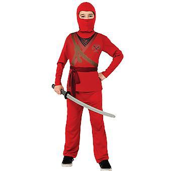 Rode Ninja Assassin Stealth Japanse Aziatische krijger boek Week jongens kostuum