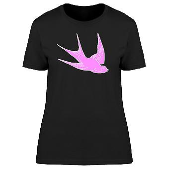 Pink Swallow Silhouette Tee Women's -Image by Shutterstock