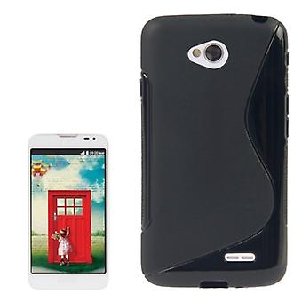 Mobile Shell S line TPU asia LG L70 / dual D325 musta
