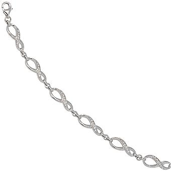 hopea rannekorun infinity 925 sterling silver cubic Zirkonia 19 cm rannerengas silver