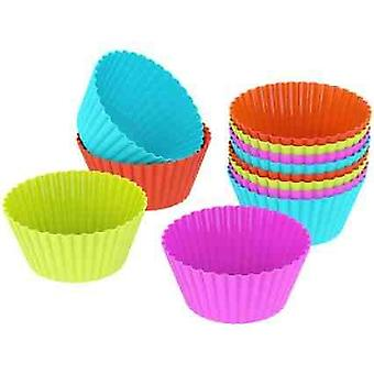 25 Reusable Muffin Tins Molds in 6 Colors of High Quality Silicone | 5 Colours | Baking Mold Chocolate Jelly