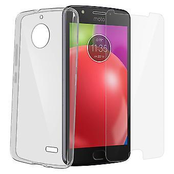 Tilbage case + Screen Protector hærdet glas klar Motorola Moto E4