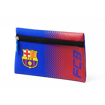 FC Barcelona Official Football Crest Design Fade Flat Pencil Case