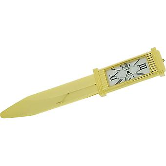 Gift Time Products Letter Opener and Clock - Gold