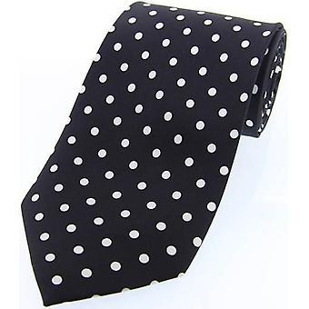 Cravatta in Twill di seta pois David Van Hagen - bianco/nero