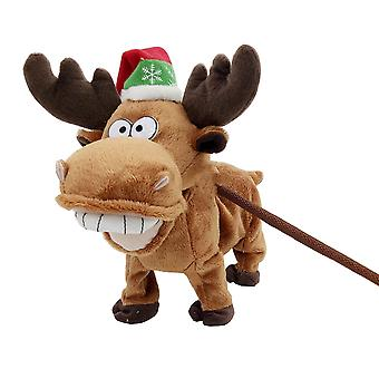 TRIXES 28cm Walking Interactive Musical Toy – Reindeer – Christmas Present