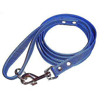 K9-Sport Super-Grip leash with handle, blue