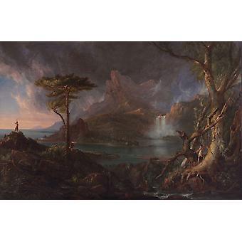 Une scène sauvage, Thomas Cole, 60x40cm