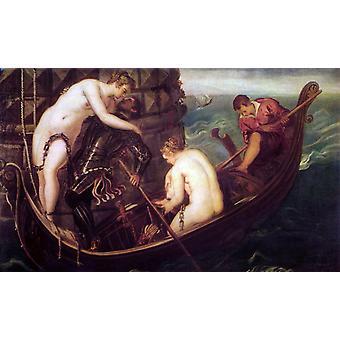 The Deliverance of Arsinoe, Tintoretto, 60x40cm