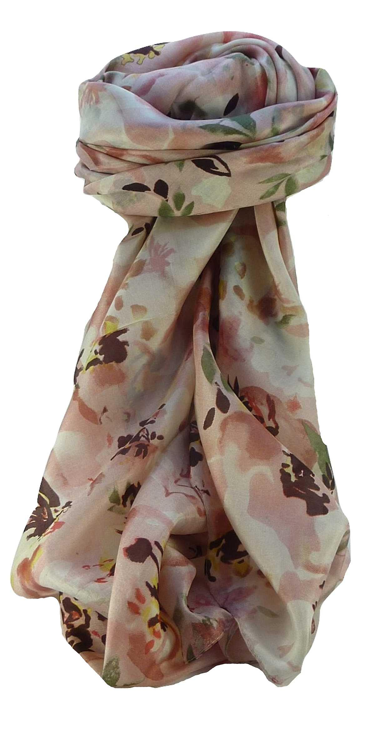 Mulberry Silk Contemporary Square Scarf Floral F217 by Pashmina & Silk