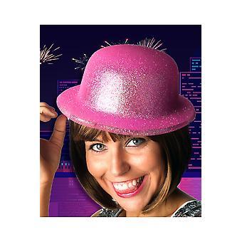 Cappelli fucsia bombetta cappello glitter