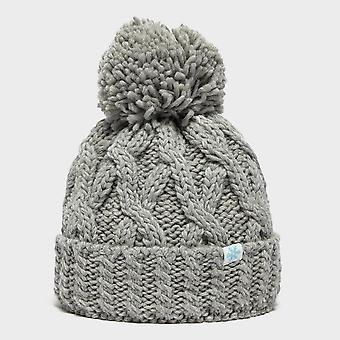 New Alpine Women's Chunky Bobble Warm Ski Bobble Hat Grey