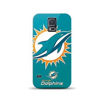 Mizco Sports NFL Oversized Snapback TPU Case for Samsung Galaxy S5 (Miami Dolphins)