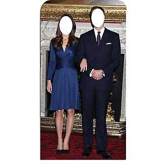 Prince William and Kate Middleton Lifesize Cardboard Stand-in Cutout / Standee