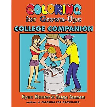 Målarbok för vuxna College Companion