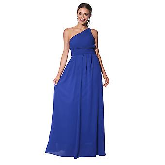 KRISP vrouwen maxi jurk formele lange dames jurk chiffon avond bruiloft partijgrootte 8-20