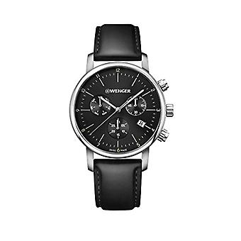 Wenger Unisex Quartz Watch with leather band 01.1743.102