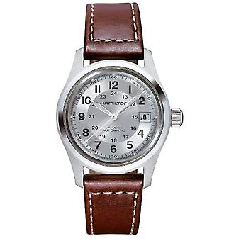 Hamilton Analog automatic men's watch with leather H70455553