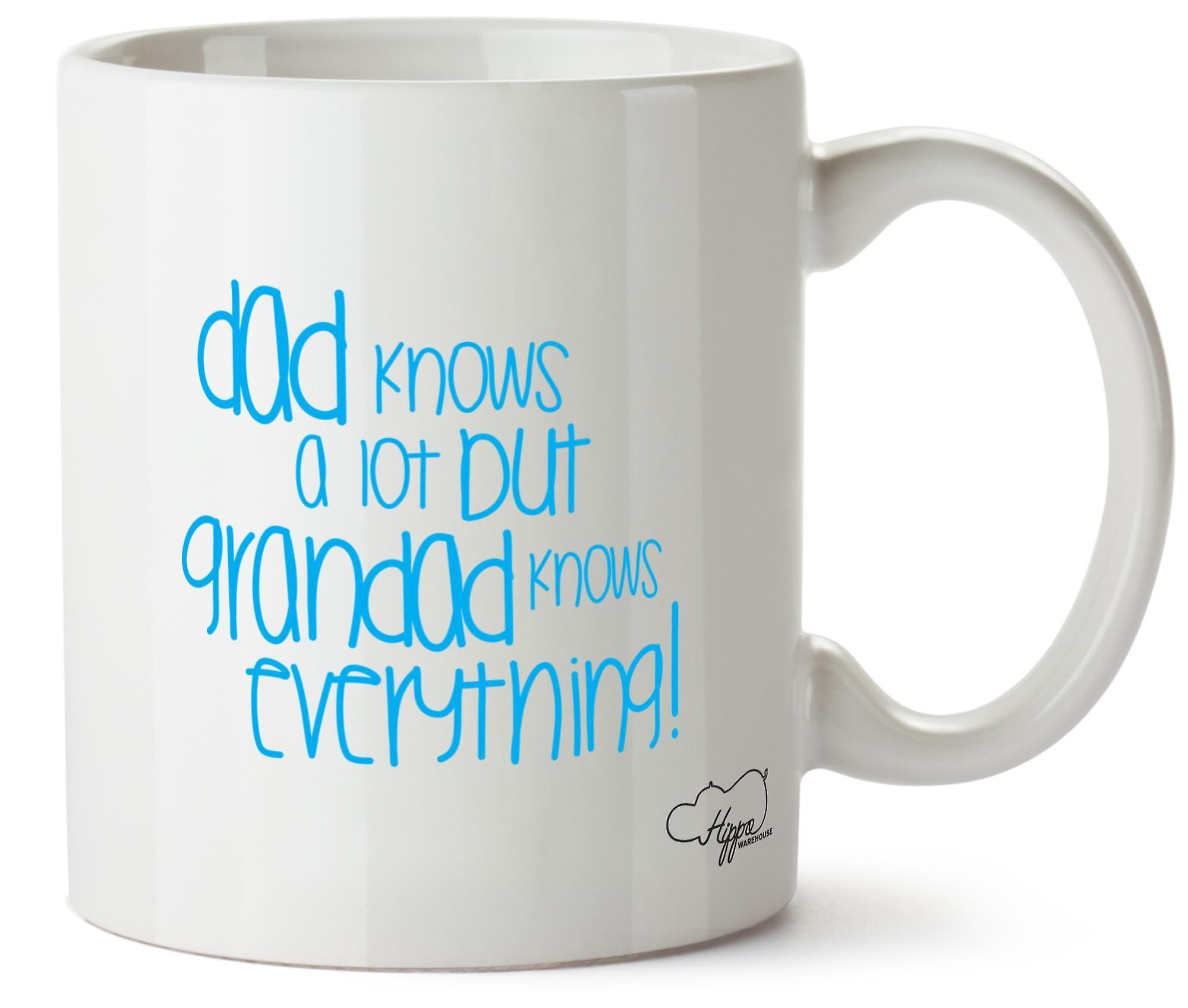 Hippowarehouse папа знает много, но дедушка знает все 10oz кружка Кубок