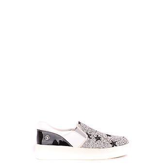 Liu Jo Ezbc086016 Women's Silver Leather Slip On Sneakers