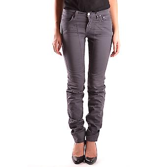 Jeckerson Ezbc069003 Women's Grey Cotton Jeans