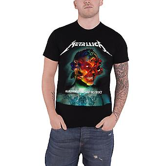 T-Shirt Metallica Album Hardwired couverture bande Logo officiel Mens nouveau noir