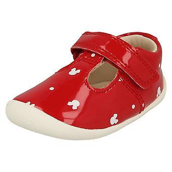 Girls Clarks Disney Detailed T-Bar Shoes Roamer Polka