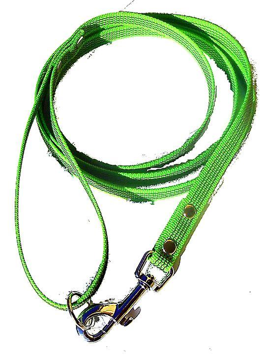 Super-Grip leash, lime green 15 mm wide