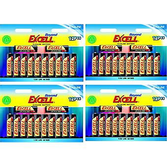 48-pack AA Batterie , LR6 Excell Oltre batteria alcalina