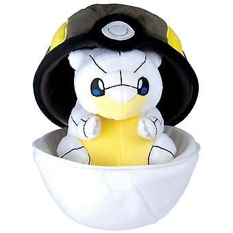 Pokemon Alolan Sandshrew Pokeball Cuddle Plush Plush Plush Softis 25cm