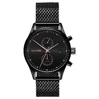 MVMT VOYAGER noir rose hommes montre bracelet en acier inoxydable MV01-BBRG