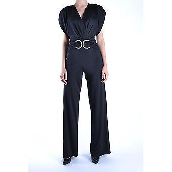 Balizza Ezbc206007 Damen's Schwarz Polyester Jumpsuit