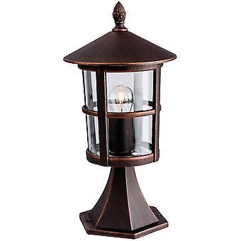 Erstlicht-1 Light Outdoor Lantern Pillar Bronze IP44-2357BZ
