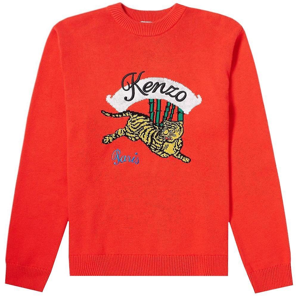 Kenzo Jumping Tiger strikket jumper rød