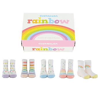 Cucamelon Rainbow Calzini Regalo Set 2-4 Anni