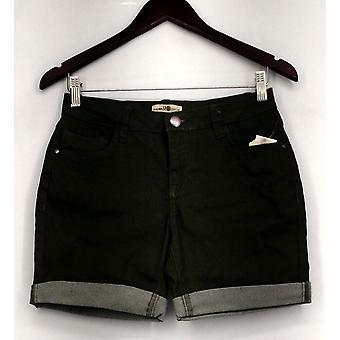Één wereld shorts stretch cuffed 5 pocketed denim groen Womens A432385