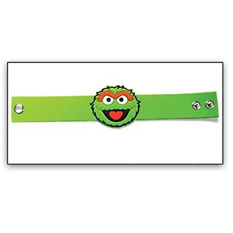 Wristband - Sesame Street - New Oscar Face PVC Rubber Green 81824ses