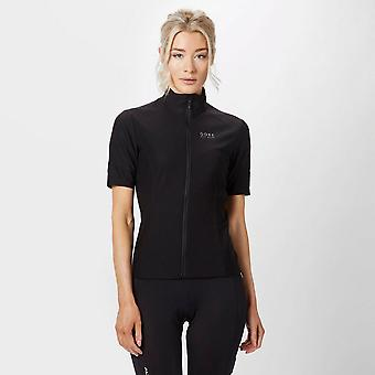 New Gore Women's Power GoreWindstopperZip-Off Jersey Black