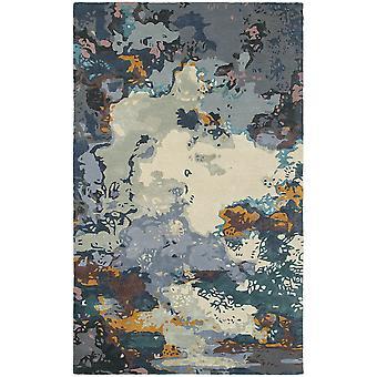 Galaxy 21903 blue/ grey indoor area rug rectangle 3'6