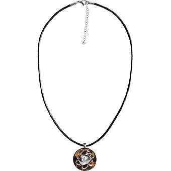 Chiara Amber C14195 - Chain with women's pendant with crystal - stainless steel and resin