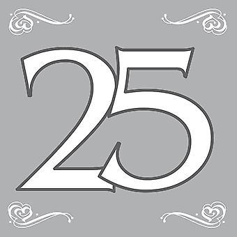 Napkins 25 silver wedding guestbooks 20pcs silver wedding