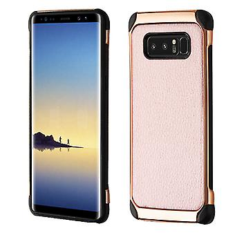 ASMYNA Rose Gold Lychee Grain (Rose Gold Placare)/Black Astronoot Protector Cover pentru Galaxy Note 8