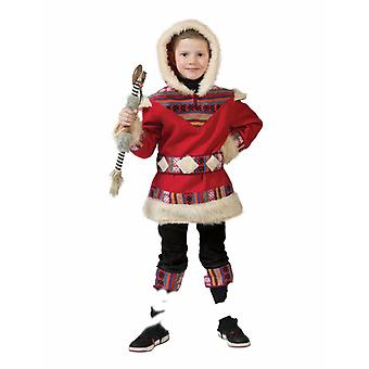 Costume Eskimo Nanook Child Child Costume Girl Young Ice Age Northern Arctic Inuit Christmas Carnival Carnival