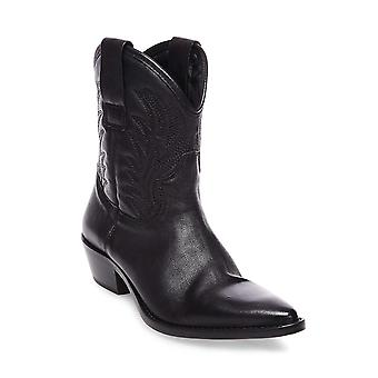 Steve Madden Womens Nove Cuir Pointed Toe Ankle Cowboy Bottes